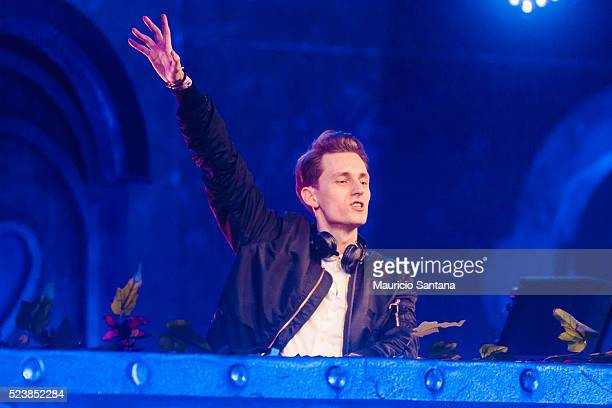 Romeo Blanco performs live on stage during the third day of the Tomorrowland music festival at Parque Maeda Itu on April 23 2016 in Sao Paulo Brazil