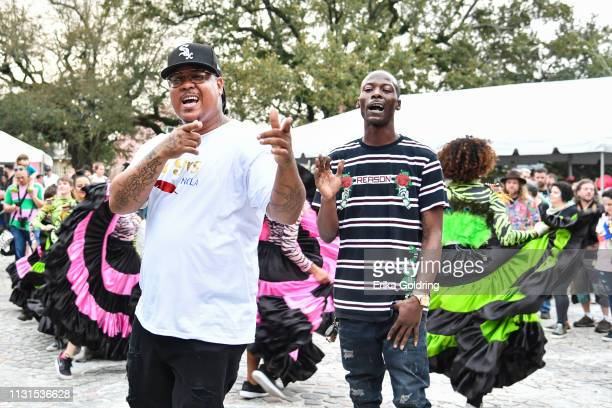 Romeo Bougere and Jermaine Bossier from the 79rs Gang perform during the second annual Krewe du Kanaval parade on February 22, 209 in New Orleans,...