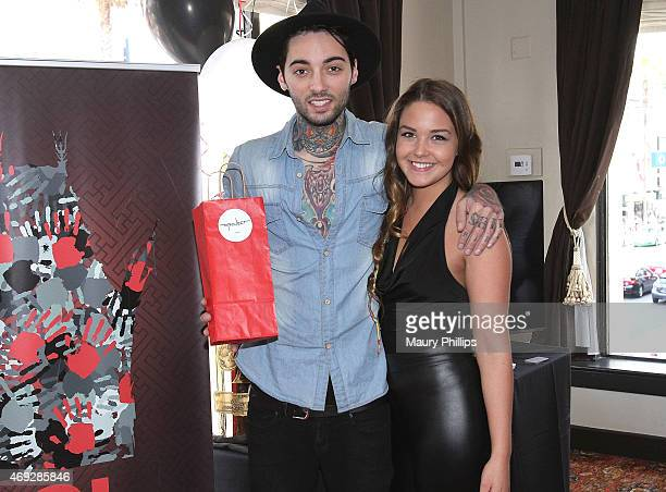 Romeo Lacoste and guest attend GBK Gift Lounge during MTV Movie Awards Weekend at Hollywood Roosevelt Hotel on April 10 2015 in Hollywood California