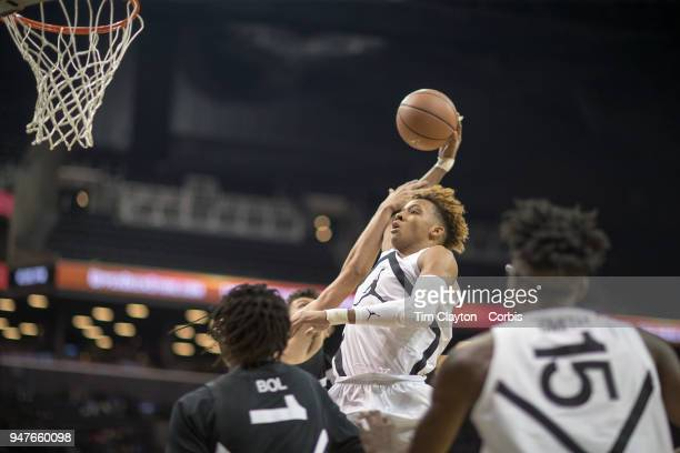 Romeo Langford New Albany HS New Albany IN drives to the basket during the Jordan Brand Classic National Boys Teams AllStar basketball game The...