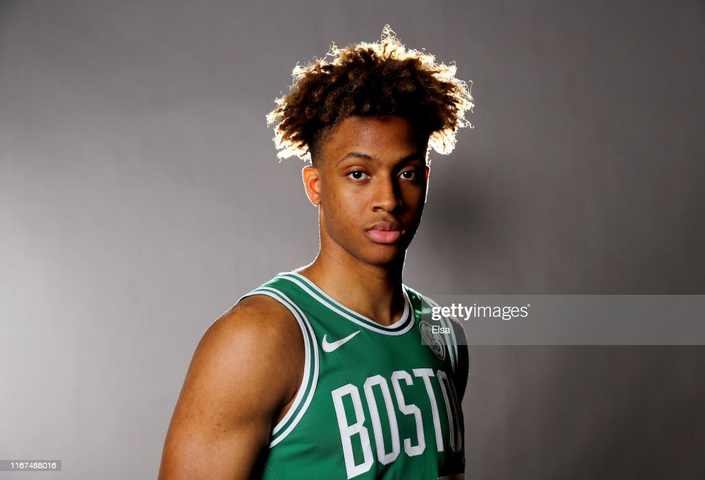 new arrival b4bcd 70613 Romeo Langford of the Boston Celtics poses for a portrait ...
