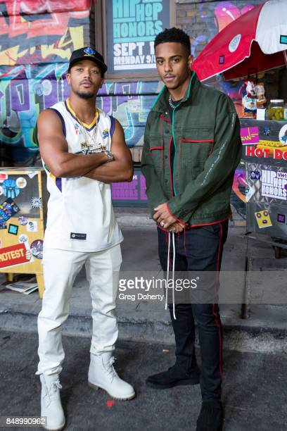 Romeo Miller and Actor Keith Powers arrive for VH1's Hip Hop Honors The 90's Game Changers at Paramount Studios on September 17 2017 in Hollywood...