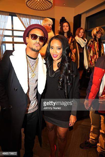Romeo Miller and Angela Simmons attend the launch of Foofi By Angela Simmons at Gansevoort Hotel on March 16 in New York City