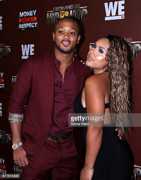 """Romeo Miller and Kristinia De Barge attend the """"Growing Up Hip Hop"""" Season 2 Premiere at The Paley Center for Media on September 29, 2016 in New York..."""