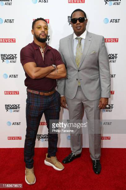 Romeo Miller and Master P attend the REVOLT X ATT 3Day Summit In Los Angeles Day 2 at Magic Box on October 26 2019 in Los Angeles California