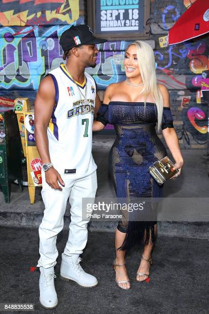 Romeo Miller and Miss Nicky Baby attend VH1's Hip Hop Honors The 90's Game Changers at Paramount Studios on September 17 2017 in Hollywood California