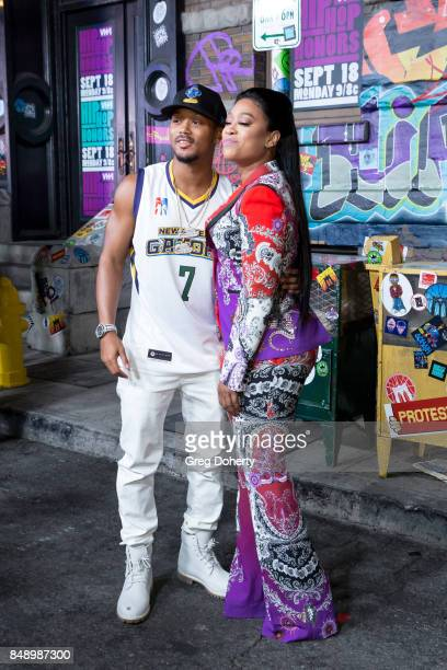 Romeo Miller and Trina arrive for VH1's Hip Hop Honors The 90's Game Changers at Paramount Studios on September 17 2017 in Hollywood California