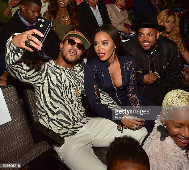 """Romeo Miller, Angela Simmons, TJ Mizell and Egypt Criss attend the ATL Premiere Of WE Tv's """"Growing Up Hip Hop"""" at SCADshow on January 5, 2016 in..."""