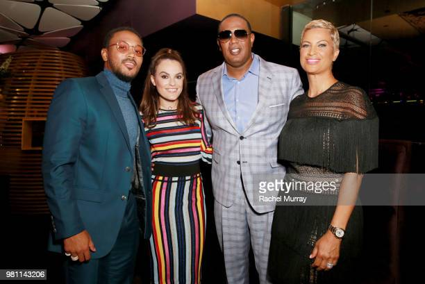 Romeo Miller Chief Brand Officer at Bumble Alex Williamson Master P and BET Her SVP of Media Sales Michele Thornton attend the BET Her Awards...