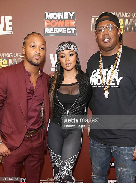 Romeo Miller Cymphonique Miller and Master P attend WE tv's Growing Up Hip Hop Season 2 Premiere Screening And After Party on September 29 2016 in...