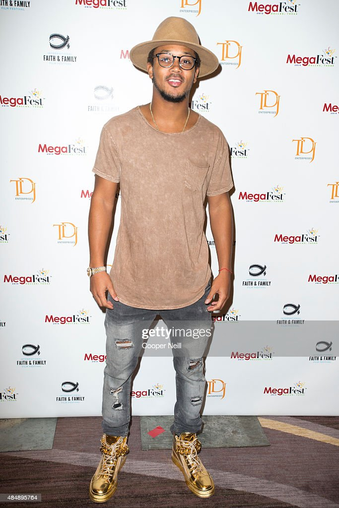Romeo Miller poses before the MegaFest Millennial Panel at the Omni Hotel Texas on August 22, 2015 in Dallas, Texas.