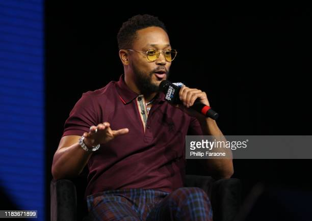 Romeo Miller speaks onstage at the REVOLT X AT&T 3-Day Summit In Los Angeles - Day 2 at Magic Box on October 26, 2019 in Los Angeles, California.