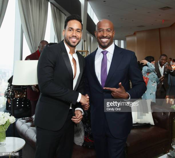 Romeo Santos and Van Jones attend Roc Nation THE BRUNCH at One World Observatory on January 27 2018 in New York City