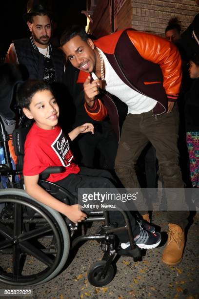Romeo Santos Attends The Romeo Santos Daddy Yankee Video Shoot at on October 23 2017 in the Bronx borough of New York City