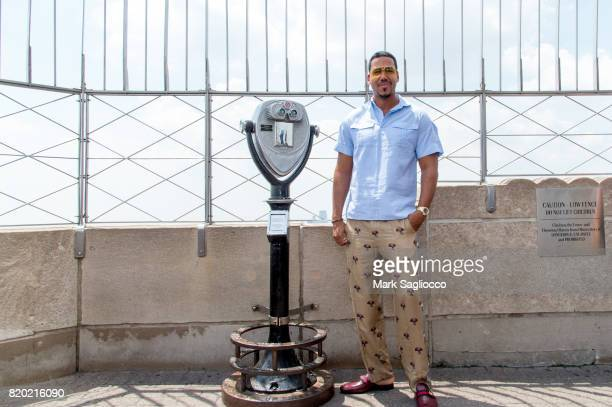 Romeo Santos Lights The Empire State Building In Honor Of The Notes For Notes Partnership at The Empire State Building on July 20 2017 in New York...