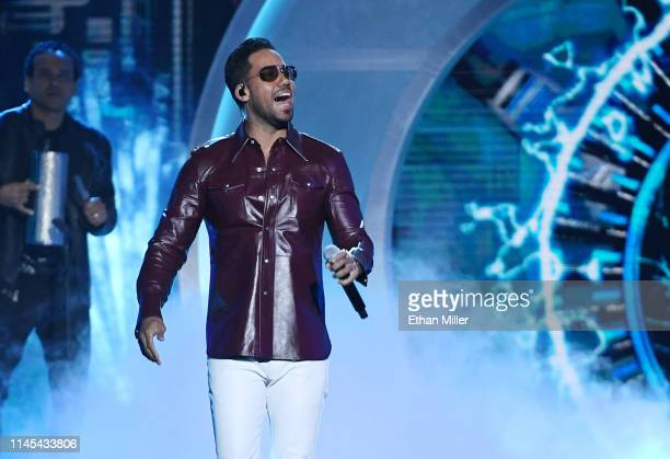 Romeo Santos of Aventura performs during the 2019 Billboard Latin Music Awards at the Mandalay Bay Events Center on April 25, 2019 in Las Vegas,...