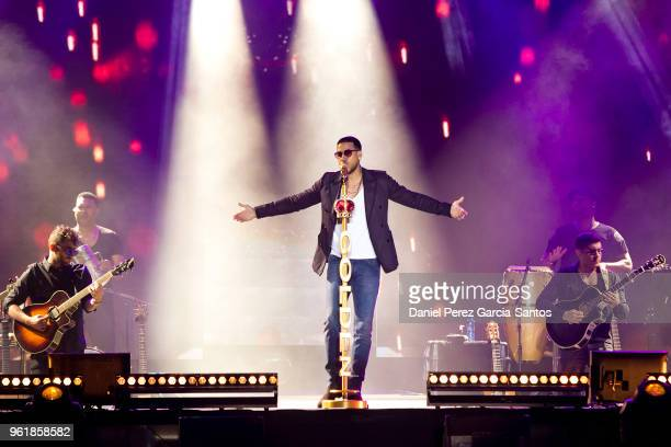 Romeo Santos performs during his 'Golden Tour 2018' on May 23 2018 in Malaga Spain