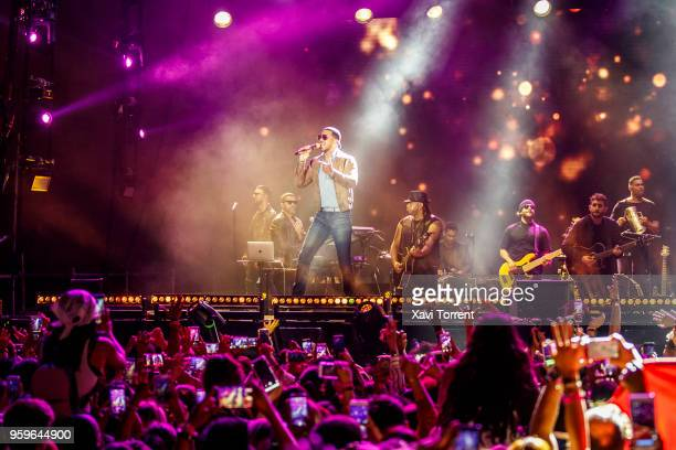 Romeo Santos performs in concert at Palau Sant Jordi during his Golden Tour 2018 on May 17 2018 in Barcelona Spain