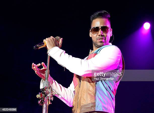 Romeo Santos performs in concert at Yankee Stadium on July 11 2014 in New York City