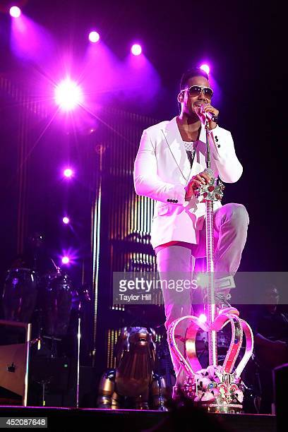 Romeo Santos performs in concert at Yankee Stadium on July 12 2014 in New York City