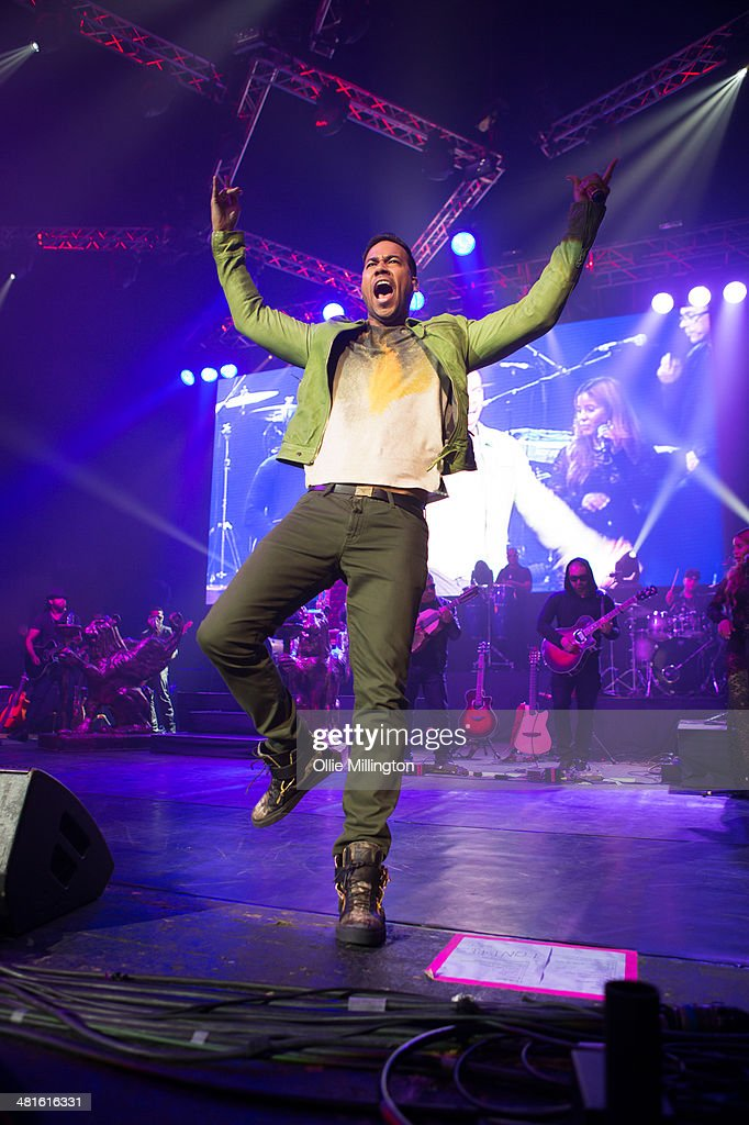 Romeo Santos performs on stage during the only UK date of his 2014 'Vol.2 World Tour' at Brixton Academy on March 30, 2014 in London, United Kingdom.