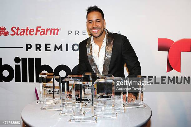Romeo Santos poses backstage at 2015 Billboard Latin Music Awards presented by State Farm on Telemundo at Bank United Center on April 30 2015 in...