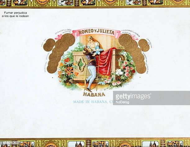 romeo y julieta habano cubano caja - romeo y julieta obra reconocida fotografías e imágenes de stock