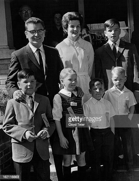 MAR 13 1966 OCT 23 1966 Romer Roy Family The Romer family In front are left to right Paul Mary Susan Chris and Timmy Mark is standing next to Mr and...