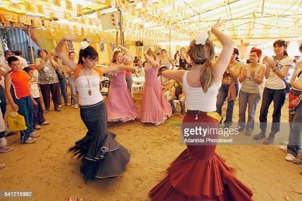 Romeria del Rocio Pilgrims Dancing Sevillana