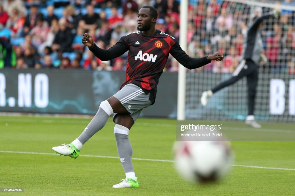 Romerlu Lukaku of Manchester United before the game against Valerenga today at Ullevaal Stadion on July 30, 2017 in Oslo, Norway.