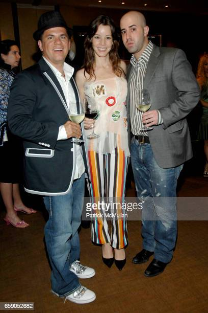 Romero Britto Monica Moss and Francesco Casio attend FRANCINE LEFRAK and RICK FRIEDBERG host a dinner in Honor of ROMERO BRITTO at Porter House on...