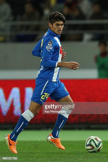 Romero Frank of Montedio Yamagata in action during the J1 Promotion PlayOff Final match between JEF United Chiba and Montedio Yamagata at Ajinomoto...