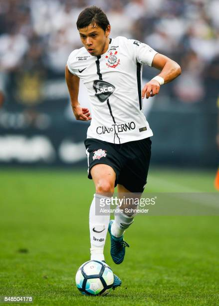 Romero of Corinthians in action during the match between Corinthians and Vasco da Gama for the Brasileirao Series A 2017 at Arena Corinthians Stadium...
