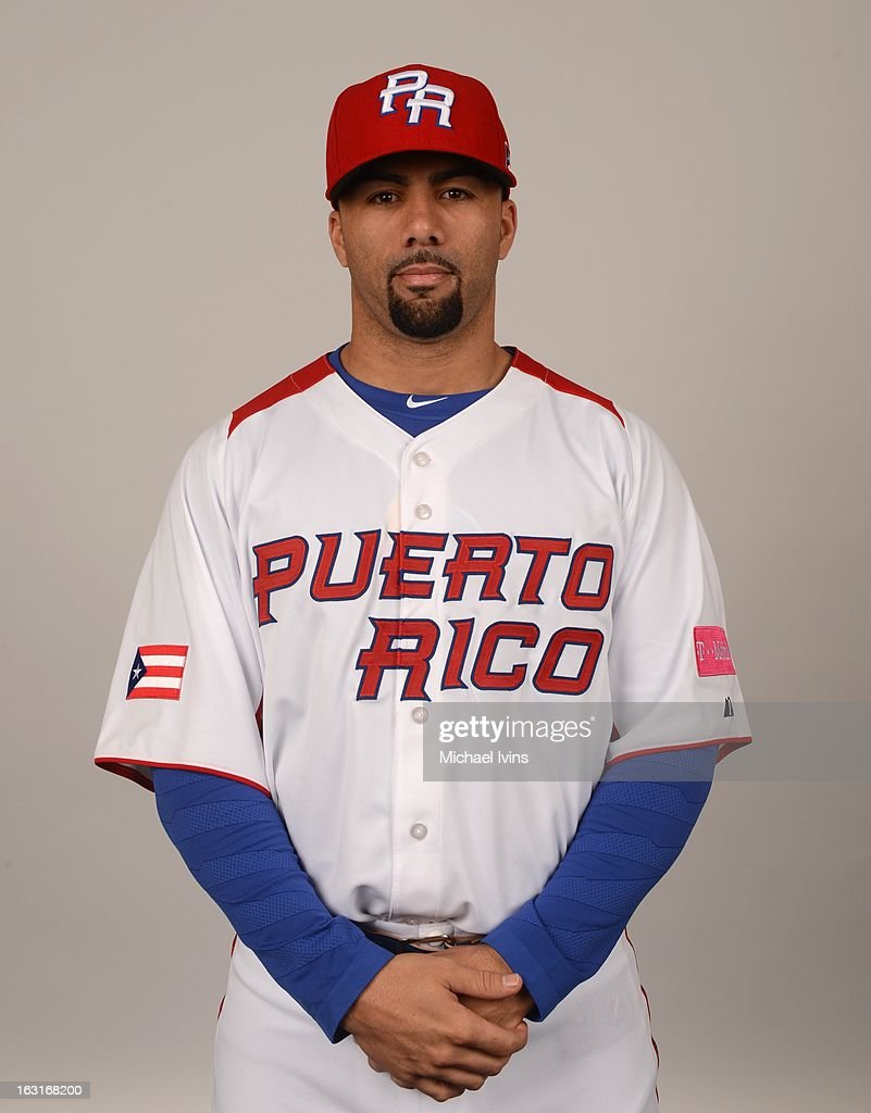 J.C. Romero #32 of Team Puerto Rico poses for a headshot for the 2013 World Baseball Classic at the City of Palms Baseball Complex on Monday, March 4, 2013 in Fort Myers, Florida.