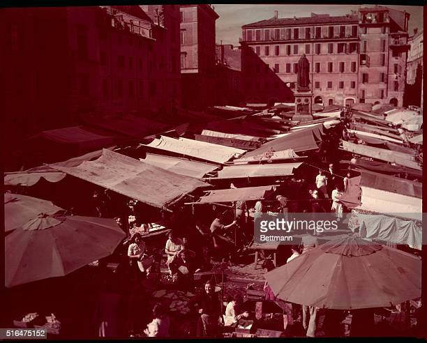 Rome's Campo di Fiore most notorious of the city's markets This was headquarters for Italian black marketeers during the war and anything from US...