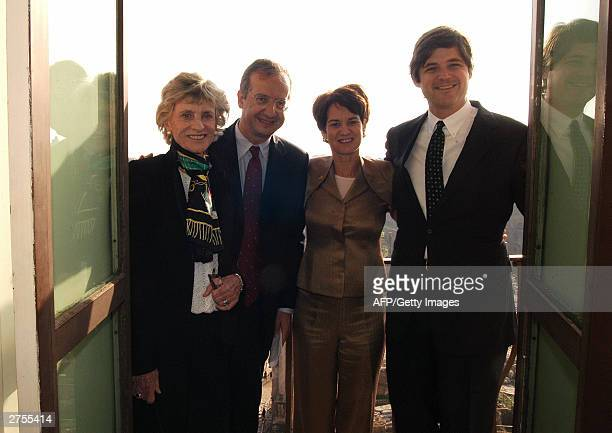Rome's mayor Walter Veltroni poses with Jean Kennedy Smith Kathleen Kennedy Townsend and her husband David Townsend at the Rome's city hall 22...