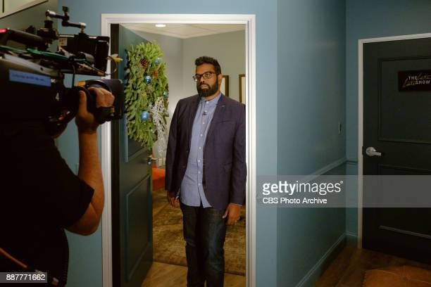 Romesh Ranganathan checks in from the green room with James Corden during 'The Late Late Show with James Corden' Wednesday December 6 2017 On The CBS...
