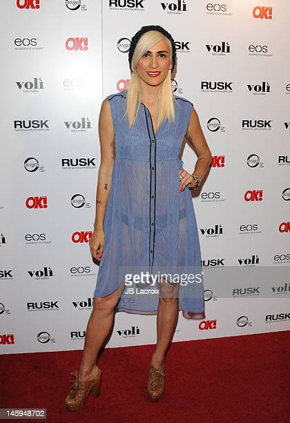 Romi Klinger attends the OK Magazine's Sexy Singles Party at The Roxbury on June 7 2012 in Hollywood California