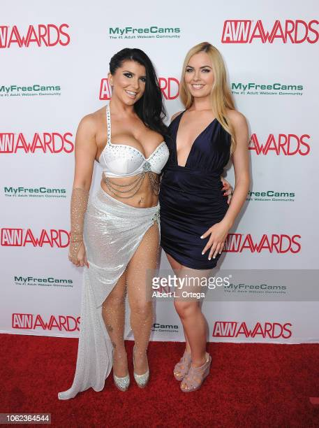 Romi Rain and Bailey Rayne arrive for the 2019 AVN Awards Nominations Party held at Avalon on November 15 2018 in Hollywood California