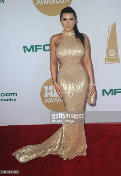 Romi Rain arrives for the 2018 XBIZ Awards held at JW Marriot at LA Live on January 18 2018 in Los Angeles California