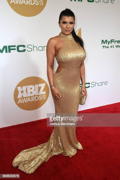 Romi Rain attends the 2018 XBIZ Awards on January 18 2018 in Los Angeles California