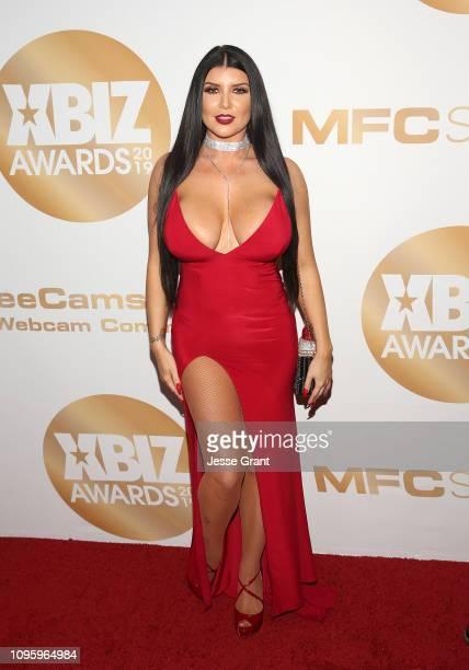 Romi Rain attends the 2019 XBIZ Awards on January 17 2019 in Los Angeles California