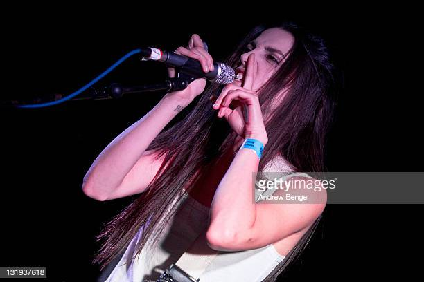 Romily Alice of Japanese Voyeurs performs on stage at Cockpit on November 8, 2011 in Leeds, United Kingdom.