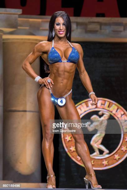 Romina Basualdo competes in Bikini International as part of the Arnold Sports Festival on March 4 at the Greater Columbus Convention Center in...