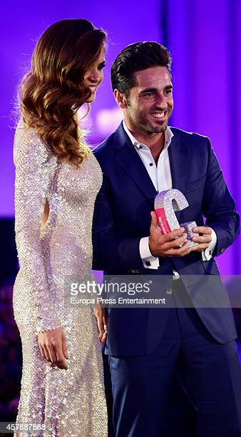 Romina Belluscio and David Bustamante attend the 7th annual Cosmopolitan Fun Fearless Female Awards on October 20 2014 in Madrid Spain