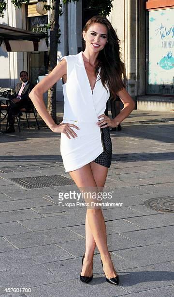 Romina Belluscio attends Alejandro Fernandez concert on July 23 2014 in Madrid Spain