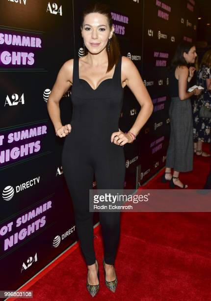 Romina Laino arrives at the screening of A24's 'Hot Summer Nights' at Pacific Theatres at The Grove on July 11 2018 in Los Angeles California