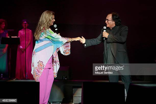 Romina Power and Al Bano Carrisi perform on stage their last show 'AL BANO in concert special guest ROMINA POWER' during the Festival Castell...