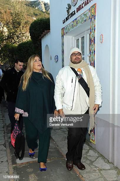 Romina Power and Yari Carrisi attend the third day of the 15th Annual Capri Hollywood International Film Festival on December 29 2010 in Capri Italy