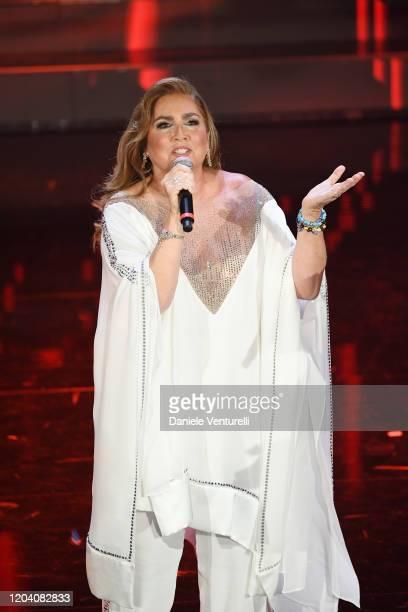 Romina Power attends the 70° Festival di Sanremo at Teatro Ariston on February 04 2020 in Sanremo Italy